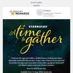 [Starbucks] Enjoy joyous celebrations with Starbucks® Mooncakes