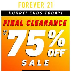 [FOREVER 21] ENDING NOW: Final Clearance!