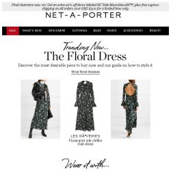 [NET-A-PORTER] Printed dresses are in full bloom 🌸