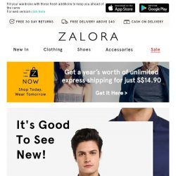 [Zalora] First Look: All-New Arrivals
