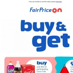 [Fairprice] Let Free Gifts Take Away Your Monday Blues