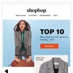 [Shopbop] 10 right-now closet essentials