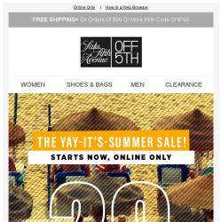 [Saks OFF 5th] You won't believe how BIG this sale is...