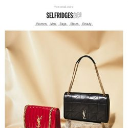 [Selfridges & Co] Shiny new Saint Laurent bags, right here
