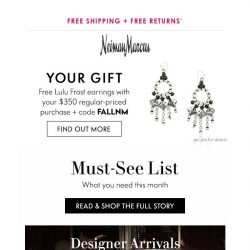 [Neiman Marcus] Check out our Must-See List