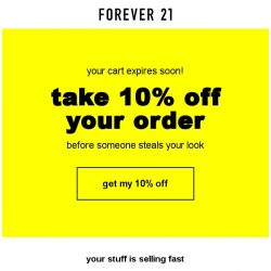 [FOREVER 21] 10% OFF... just for YOU
