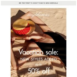 [mytheresa] Vacation sale: new styles added, up to 50% off