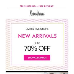 [Neiman Marcus] 7,000+ styles just added to clearance