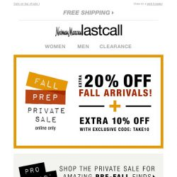 [Last Call] Private Sale | Fall Prep | Top Designers