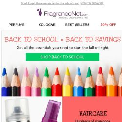 [FragranceNet] Forget the papers and pencils - THIS is back to school shopping…