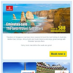 [cheaptickets.sg] Emirates best travel sale from just SGD 588 all-in return