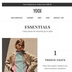 [Yoox] That trench you've always wanted is waiting for you...