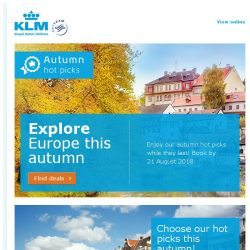 [KLM] Enjoy our autumn hot picks while they last! 5 days left!