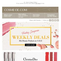 [COSME-DE.com] Up to 52% off on August New Skincare & Makeup Products