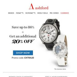 [Ashford] Clearance prices on top brand watches