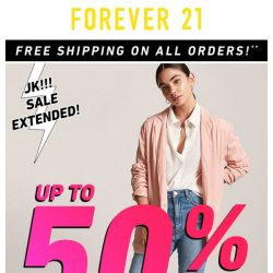 [FOREVER 21] HOT & NEW: Fall Faves at 50% off!