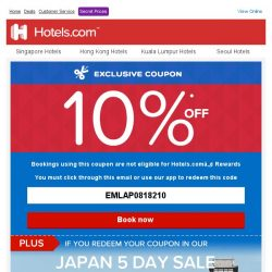 [Hotels.com] Congratulations! You've qualified for a 10% coupon