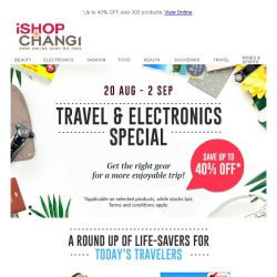 [iShopChangi] Power up your travel gears & gadgets