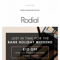 [RODIAL] Bank Holiday Starts Early: Save Up To £50