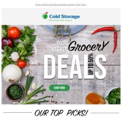 [Cold Storage]  Up to 50% OFF our grocery favourites + Champagnes!