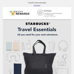 [Starbucks] Starbucks® travel essentials for your next adventure
