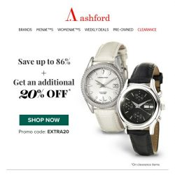 [Ashford] Get +20% off 100s of top brand watches!