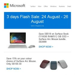 [Microsoft Store] 3 days of Surface deals: Exclusive to Microsoft Store Customers