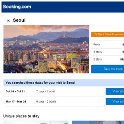 [Booking.com] Prices in Seoul are dropping for your dates!