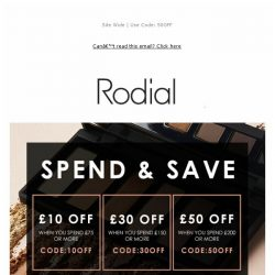 [RODIAL] Have You Heard? Save Up To £50 Off