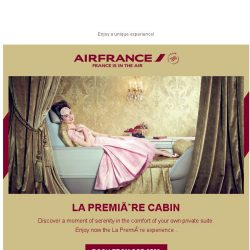 [AIRFRANCE] Flying in La Première cabin is so much more than a trip