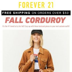 [FOREVER 21] Fall Newness: Corduroy