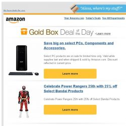 [Amazon] Save big on select PCs, Components and...