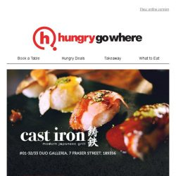 [HungryGoWhere] 50% Off Omakase Special: Savour a wide variety of aged Japanese delicacies specially curated by Cast Iron