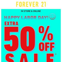 [FOREVER 21] EXTRA 50% OFF SALE ‼️