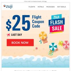 [Zuji] BQ.sg: Final Day - $25 Flight Coupon