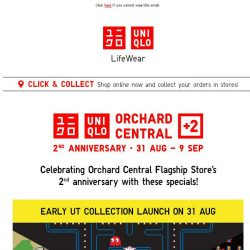 [UNIQLO Singapore] Celebrate Orchard Central Flagship Store's 2nd anniversary!
