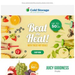 [Cold Storage] ☀ Beat the Heat ☀ Up to 50% OFF Hot Grocery Deals! 🎊