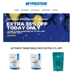 [MyProtein] , offers upgraded for today only! 😲