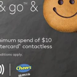 Cheers: Tap & Go™ with Mastercard® Contactless & Get $3 OFF with Minimum Spend of $10!