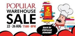 Popular Bookstore: Warehouse Sale with English, Chinese & Malay Books Buffet