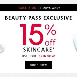 Sephora: Beauty Pass Members Enjoy 15% OFF All Skincare Online, In Stores & via App!