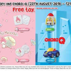 McDonald's: FREE My Melody or Choro-Q Toy with Every Happy Meal Purchased