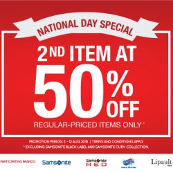 Samsonite: National Day Special with 2nd Item at 50% OFF