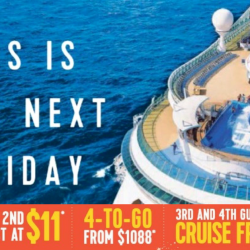 Royal Caribbean: NATA Travel Fair 2018 Offers - 2nd Guest at $11, 4-to-Go from $1088 & 3rd and 4th Guests Cruise FREE!