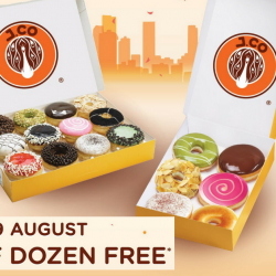 J.CO Donuts & Coffee: National Day Offer - Buy 1 Dozen Donuts & Get Half Dozen FREE!