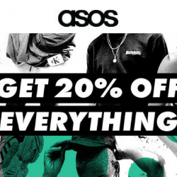 ASOS: 20% OFF Everything for 24 Hours!