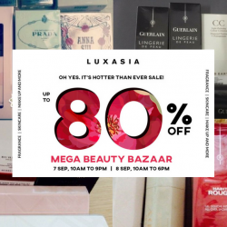 Luxasia: Mega Beauty Bazaar 2018 with Up to 80% OFF Fragrances, Skincare & Makeup