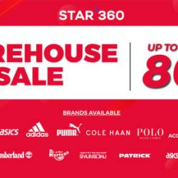 STAR 360: First Ever Biggest Lifestyle Branded Warehouse Sale with Up to 80% OFF  Birkenstock, Cole Haan, Adidas, MBT, ASICS & More!