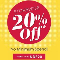 Guardian: National Day Sale - 20% OFF Storewide with No Minimum Spend Online!