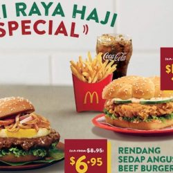 McDonald's: Hari Raya Haji Special Offers on Rendang Sedap Angus Beef Burger & Ha Ha Cheong Gai Chicken Burger Extra Value Meal!